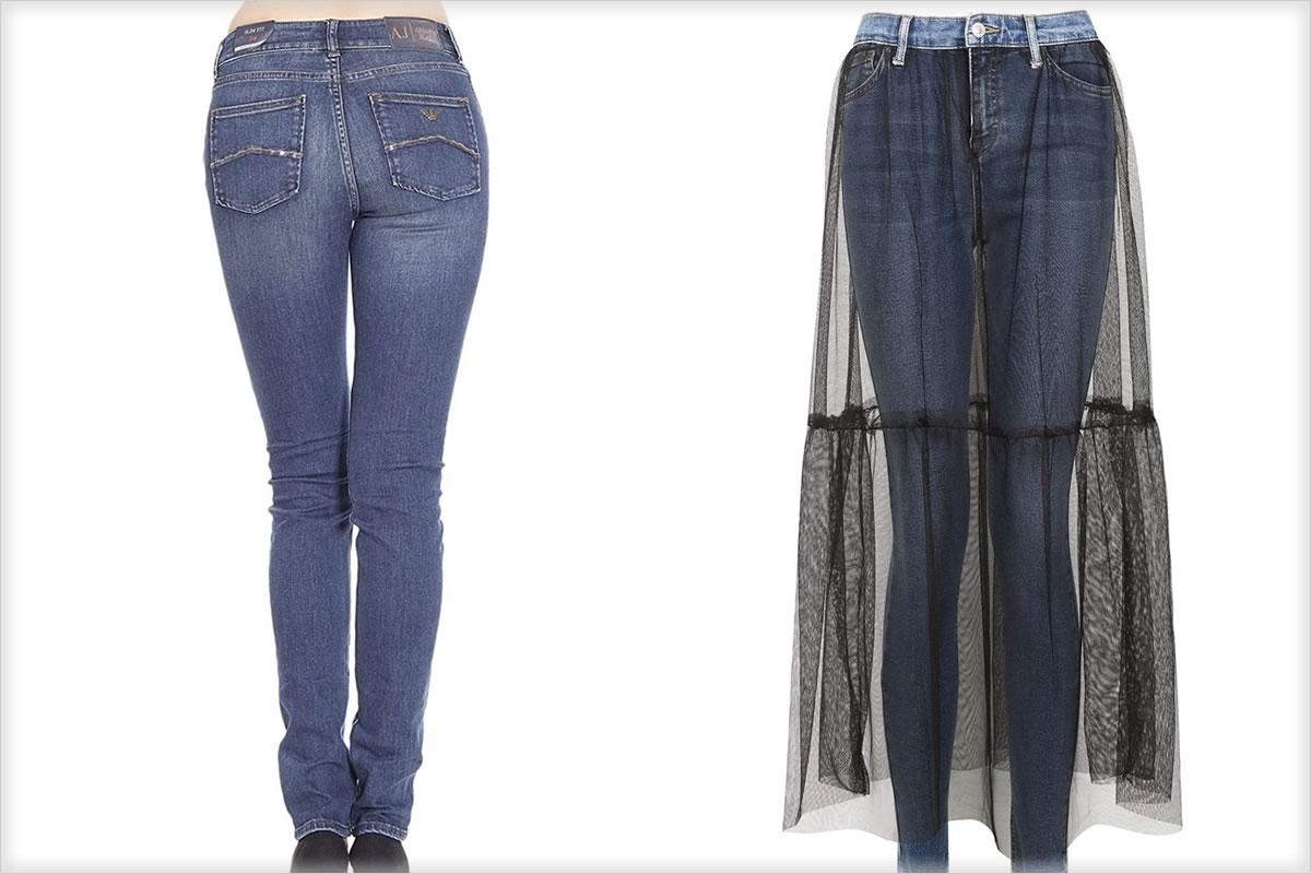 skinny jeans and ballerina jeans