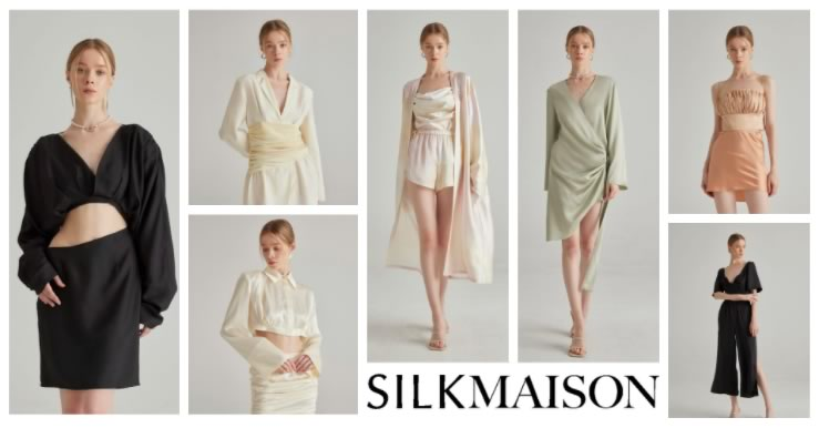 silk clothing dresses, tops and shirts