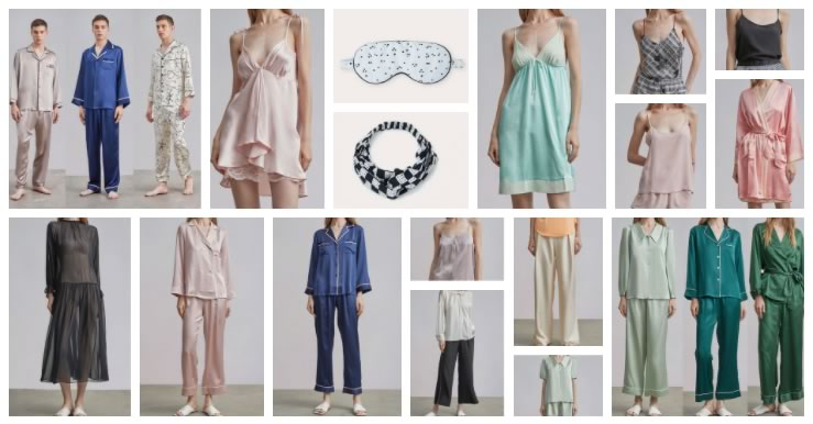 silk clothes pijamas, robes and nightgowns
